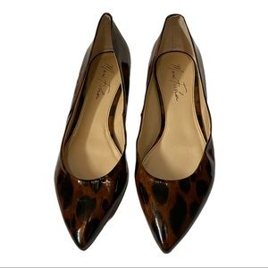 Marc Fisher Animal Print Patent Leather Flats
